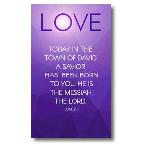 Advent Luke 2 Love 3 x 5 Vinyl Banner