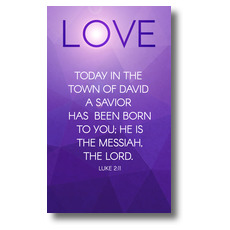 Advent Luke 2 Love Banner