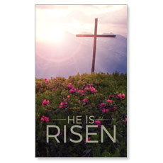 He Is Risen Mountain Banner