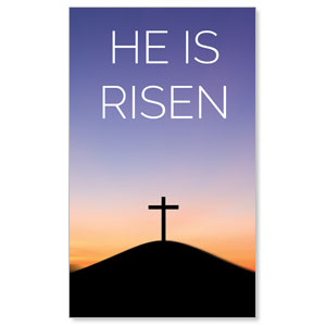 He Is Risen Sunrise 3 x 5 Vinyl Banner