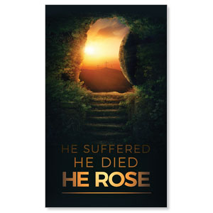 Suffered Died Rose 3 x 5 Vinyl Banner