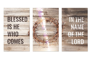 Blessed Is He 3 x 5 Vinyl Banner