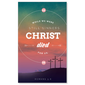 Christ Died For Us 3 x 5 Vinyl Banner