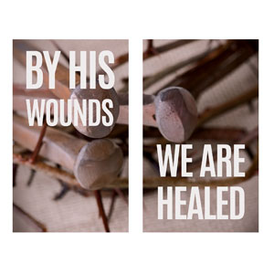 By His Wounds Pair Banners