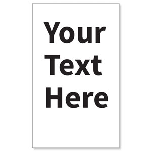Your Text Here Black 3 x 5 Vinyl Banner