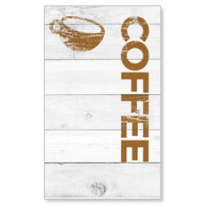 Shiplap Coffee White Banner