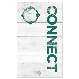 Shiplap Connect White 3 x 5 Vinyl Banner