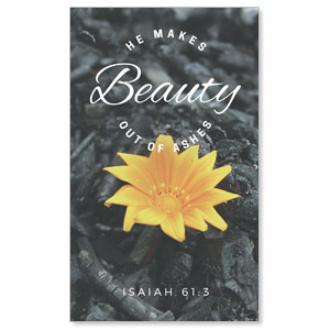 Beauty Out of Ashes 3 x 5 Vinyl Banner