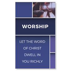 Mid Century Worship Banner