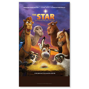 The Star Movie Advent Series for Kids 3 x 5 Vinyl Banner