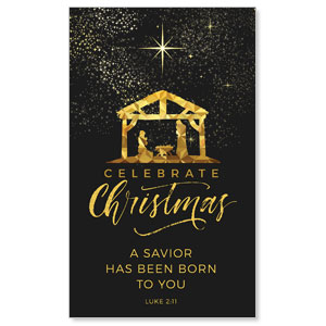 Black and Gold Nativity 3 x 5 Vinyl Banner
