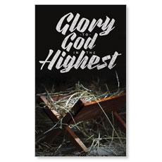 Glory God Manger Banner