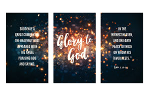 Glory to God Stars Banners
