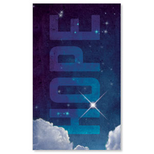 Hope Clouds 3 x 5 Vinyl Banner