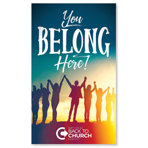 BTCS You Belong Here 3 x 5 Vinyl Banner