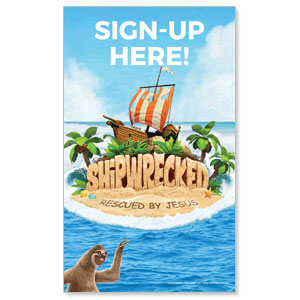 Shipwrecked Sign Up 3 x 5 Vinyl Banner