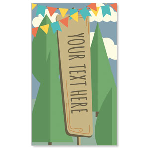 Woodland Friends Your Text Here 3 x 5 Vinyl Banner