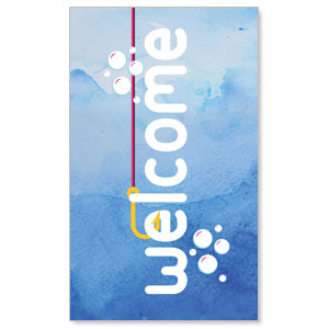 Ocean Buddies Welcome 3 x 5 Vinyl Banner