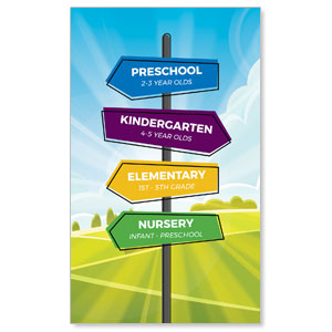Bright Meadow Directional 3 x 5 Vinyl Banner