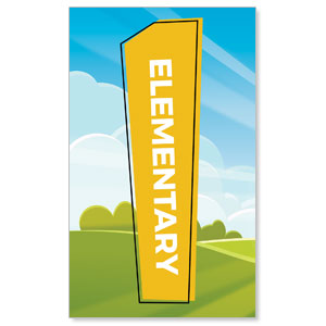 Bright Meadow Elementary 3 x 5 Vinyl Banner