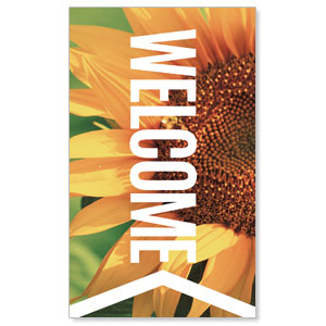 Chevron Welcome Summer 3 x 5 Vinyl Banner