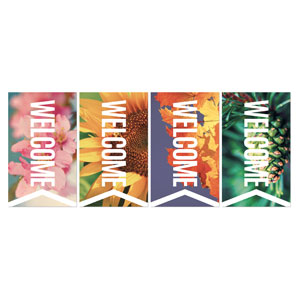 Chevron Welcome Season Set Banners