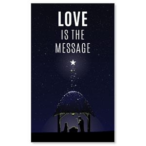 Love Is the Message 3 x 5 Vinyl Banner