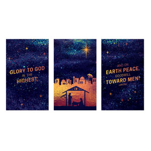 Glorious Night Triptych Banners
