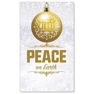 Silver Snow Peace Ornament Banners