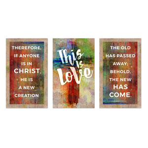 This is Love 2 Cor 5:17 3 x 5 Vinyl Banner