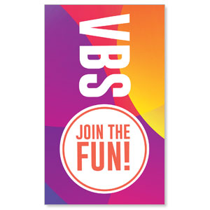 Curved Colors VBS Join the Fun 3 x 5 Vinyl Banner