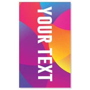 Curved Colors Your Text 3 x 5 Vinyl Banner