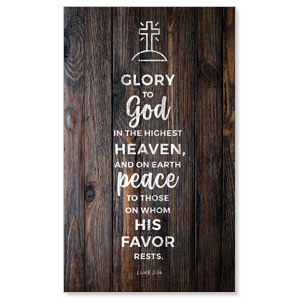 Dark Wood Luke 2:14 3 x 5 Vinyl Banner