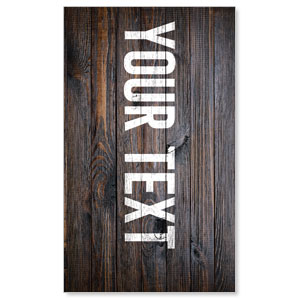Dark Wood Your Text Here 3 x 5 Vinyl Banner