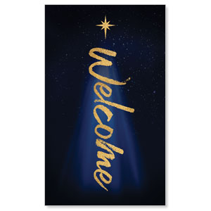 Christmas Star Hope is Born Welcome 3 x 5 Vinyl Banner