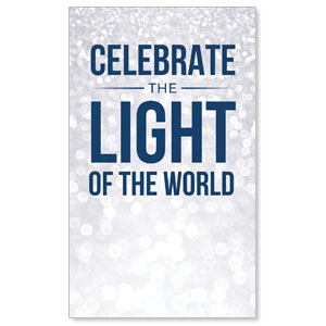 Sparkle Celebrate Light 3 x 5 Vinyl Banner