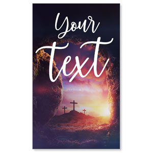 Dramatic Tomb Easter Your Text 3 x 5 Vinyl Banner
