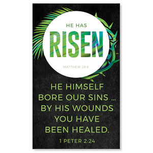 Easter Palm Crown Scripture 3 x 5 Vinyl Banner