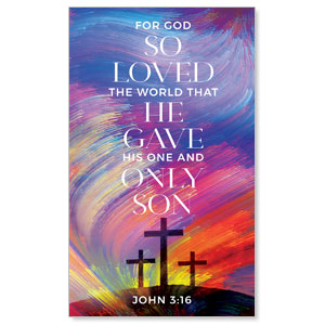 No Greater Love Scripture 3 x 5 Vinyl Banner