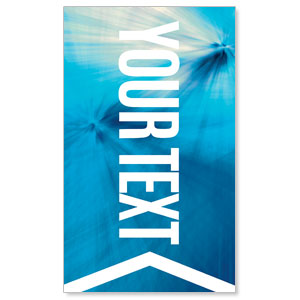 Chevron Blue Your Text 3 x 5 Vinyl Banner