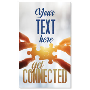 Connected Your Text 3 x 5 Vinyl Banner
