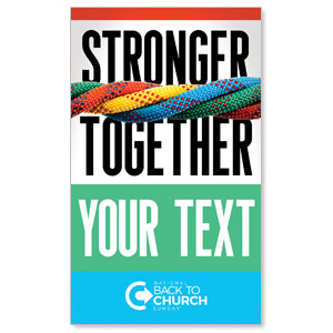 BTCS Stronger Together Your Text 3 x 5 Vinyl Banner