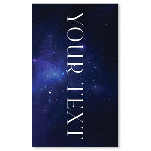 Begins With Christ Manger Your Text 3 x 5 Vinyl Banner