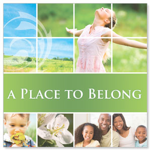 Belong Spring Window Banners