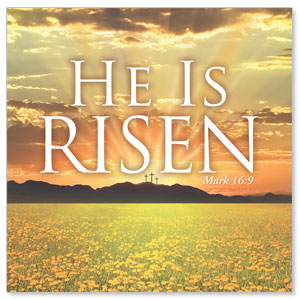 He is Risen Window Banners