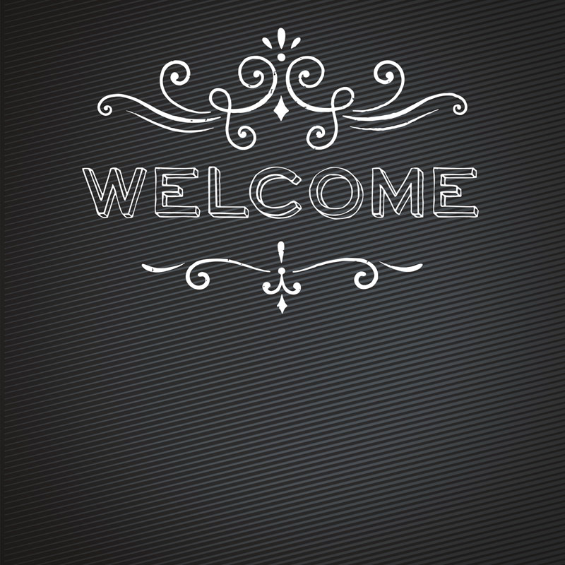 Chalk Welcome Window Banner Outreach Marketing