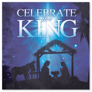 Celebrate the King M Window Banners