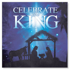 Celebrate the King M Window Banner