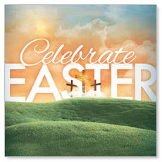 Easter Landscape Window Banner