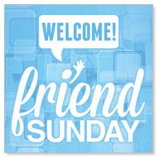 Friend Sunday Welcome Window Banner